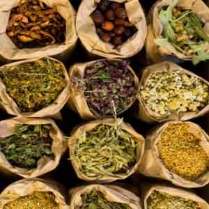 Sacks of herbs