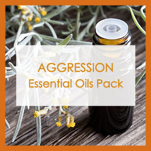 Essential Oil Aggression Pack label