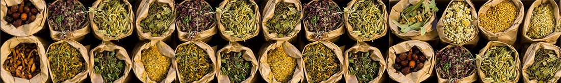Sacks of Dried Herbs