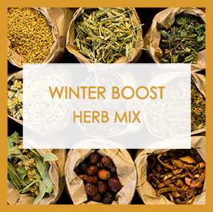 Winter Boost Herb Mix label